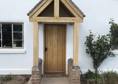simple oak porch